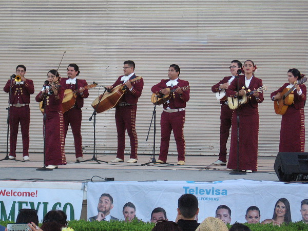 Mariachi Juvenil de San Diego perform during an event that celebrates Mexico's independence from Spain.