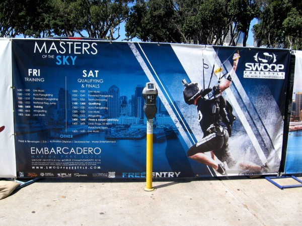 A banner at the event shows the weekend schedule. The Masters of the Sky wowed lots of excited fans.
