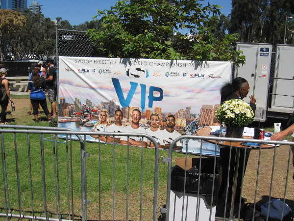After sitting on a hard rock for a long time, I wandered around to stretch my legs. Here's the entrance to the VIP section.