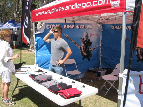 Several sponsors and vendors had booths around the park, including Skydive San Diego.