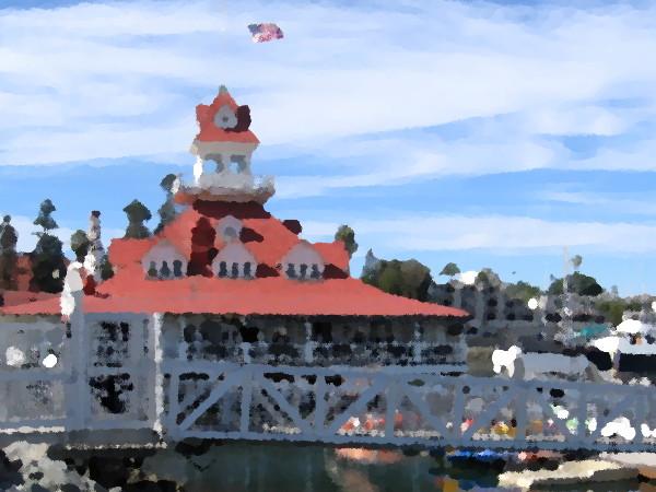 The historic former Hotel Del Coronado Boathouse.
