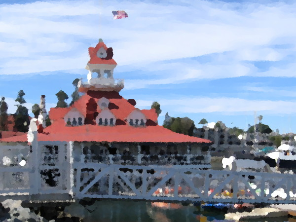 The historic former Hotel Del Coronado Boathouse.