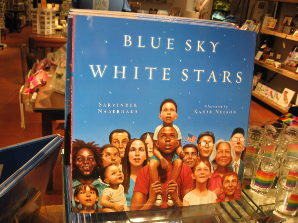 The Spectacle, 2016, gracing the front cover of Blue Sky, White Stars, was painted by Kadir Nelson.