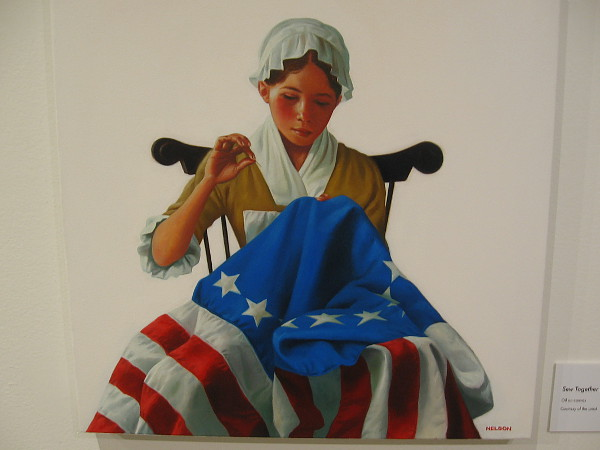 Sew Together (Betsy Ross), 2016, oil on canvas, Kadir Nelson.