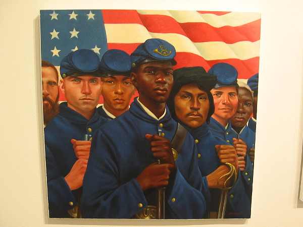 Stand Proud (Civil War Soldiers), 2016, oil on canvas, Kadir Nelson.