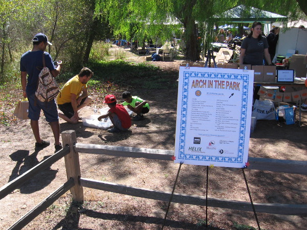 Kids learn about archaeology at Arch In The Park, an annual educational event at the Historic Ranch House in Los Peñasquitos Canyon Preserve.