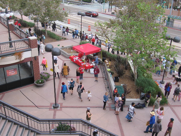 The audience will be led across the street and on to the next nearby dance location, on the path by the San Diego River.