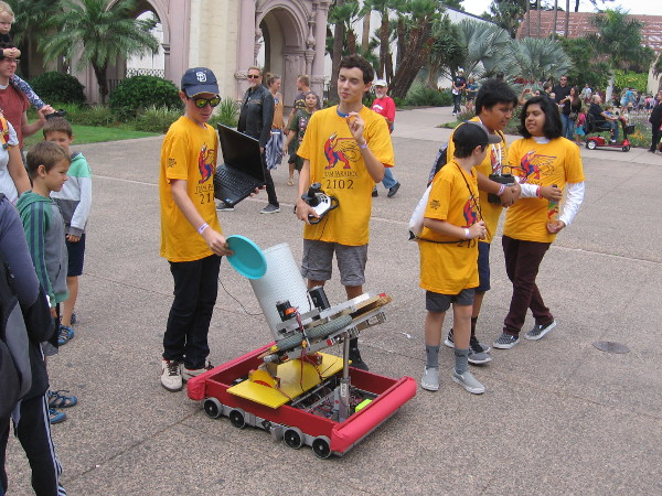 These students invented a contraption that can fire multiple Frisbees in rapid succession.