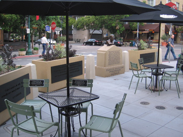 The new Piazza Giannini, at the corner of India and Cedar Street in downtown San Diego.