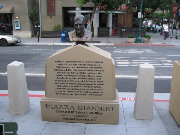 Amadeo P. Giannini was born in San Jose to Italian immigrants. He believed California and its citizens could lead the country to prosperity.