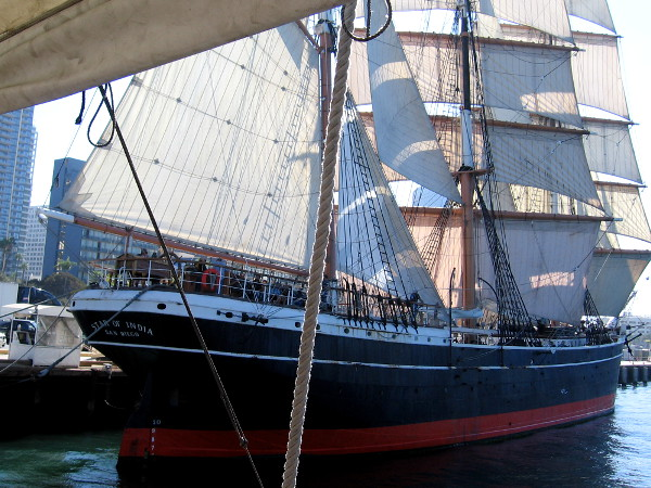 The Star of India will sail next month upon the Pacific Ocean. The volunteer sail crew is busy preparing for the historic journey.