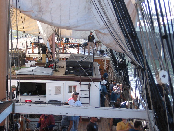 The sail crew learns the ropes aboard Star of India, oldest active sailing ship in the world.