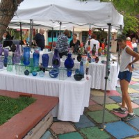 Beautiful works of glass art in Balboa Park!