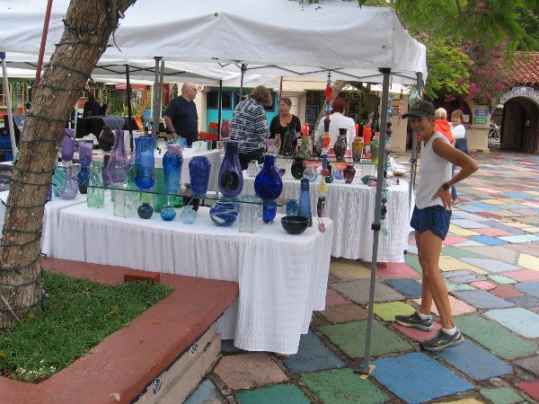 Many beautiful works of glass art can be seen and purchased this weekend in Balboa Park at Spanish Village.