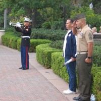 Photos of Massing of the Colors in San Diego.
