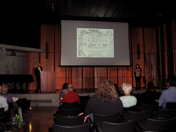 Dr. Ron Shaheen provides an entertaining lecture concerning The Marriage of Figaro during the San Diego Central Library 2018-2019 Opera Insights Series.