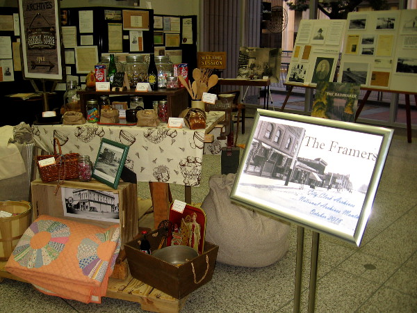 An exhibit in the lobby of the San Diego City Administration Building. The Framers, City Clerk Archives, National Archives Month, October 2018.
