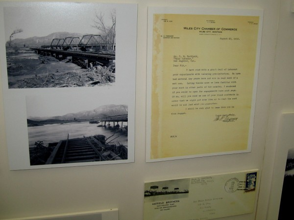 One display of historical photos and letters concerns the rainmaker Charles Hatfield, engaged in 1915 by San Diego's city council to fill the Morena Dam Reservoir.