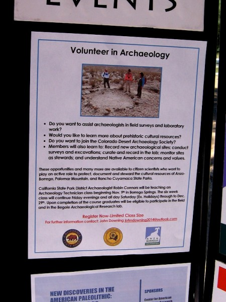 Members of the Colorado Desert Archaeology Society can volunteer and become citizen scientists at Anza Borrego, Palomar Mountain and Rancho Cuyamaca State Parks!