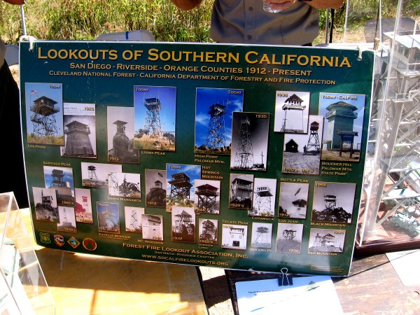 The Forest Fire Lookout Association had a cool display of all the Lookouts of Southern California.