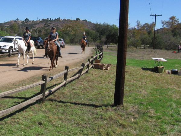 As I headed over to a field where real archaeological digs can be seen, I was passed by people on horseback, enjoying their day at Los Peñasquitos Canyon Preserve.