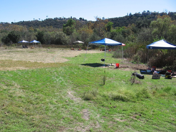 A field east of the Los Peñasquitos Ranch House where archaeology students search for clues about the historic and prehistoric past.