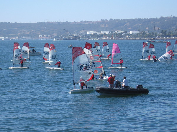 As I arrived, the O'pen BIC racing Un-Regatta was underway.