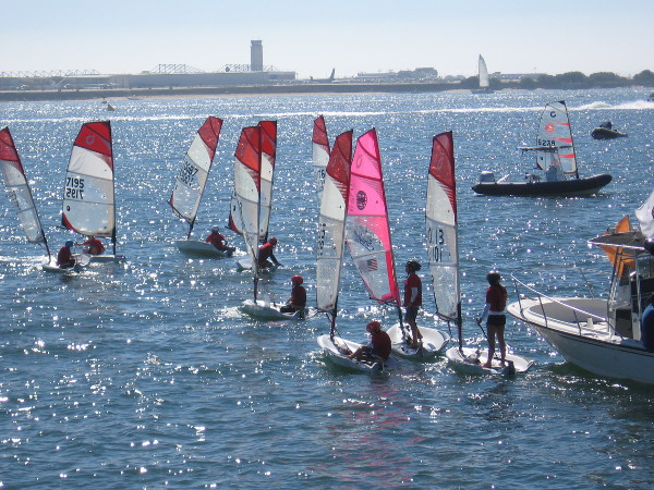 Kids love sailing on San Diego Bay in the October sunshine.