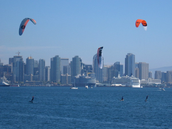World-class kite board athletes prepare to race during the Element Sports Kite Boarding Invitational.