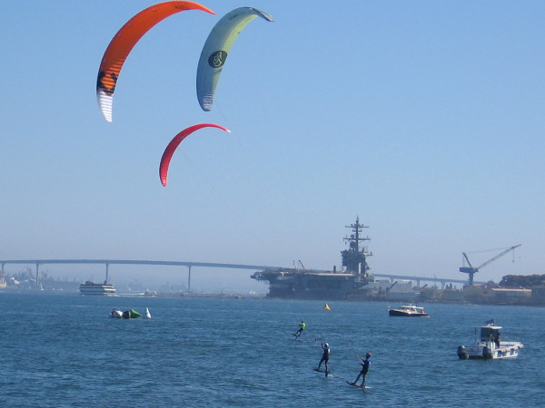 The kite boarding race has begun!