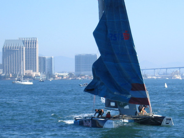 Red Bull Sailing Team is turning on San Diego Bay.