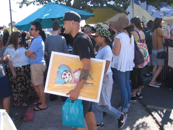 Lots of Day of the Dead themed merchandise could be found at various vendor booths about the festival.