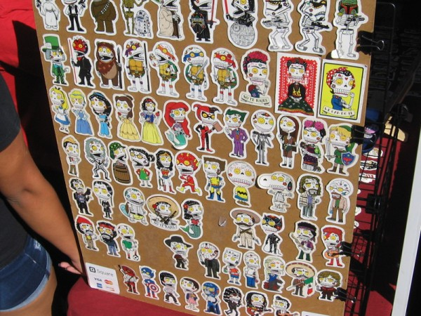 All sorts of characters from the popular culture have been transformed into Day of the Dead refrigerator magnets.