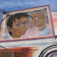 Frank the Trainman mural Train of Wisdom.