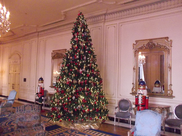 A gorgeous Christmas tree inside the luxurious Westgate Hotel.