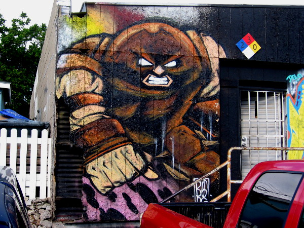 Juggernaut street art in Logan Heights.