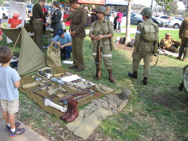The Historical Unit of Southern California held an event on Veterans Day near the Balboa Park Carousel.