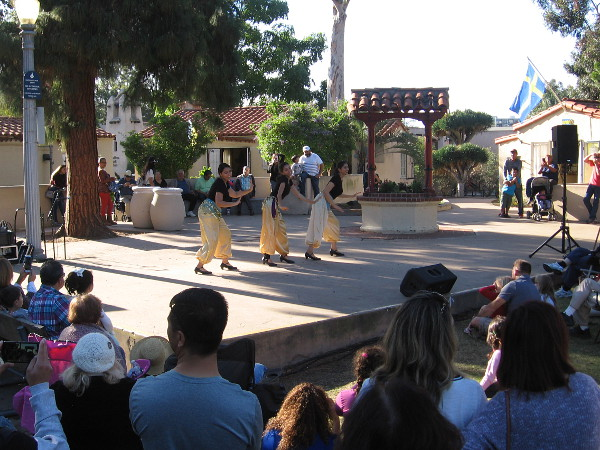 Dancers perform at the International Cottages during the House of Lebanon lawn program.