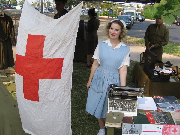 Member of the American Red Cross Club of Southern California, a World War Two reenactment group founded in 2018.