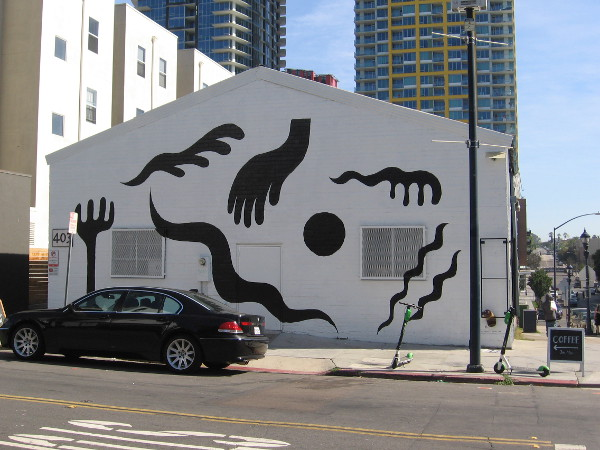 A cool new mural by Michael Brooks Chandler on the side of a building at 13th Street and J Street.