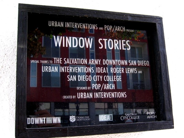 Window Stories was designed by POP/ARCH and created by Urban Interventions.