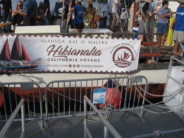 Getting ready to board the Hikianalia.