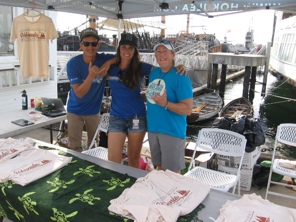These friendly crew members selling t-shirts smiled for my camera!