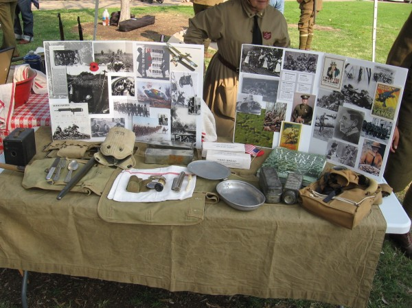 These photos and artifacts are from World War I.
