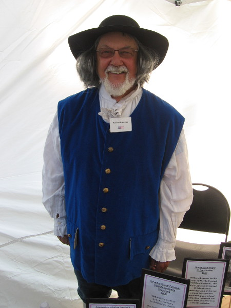 This friendly gent was dressed like William Brewster, a respected elder and leader of Plymouth Colony.