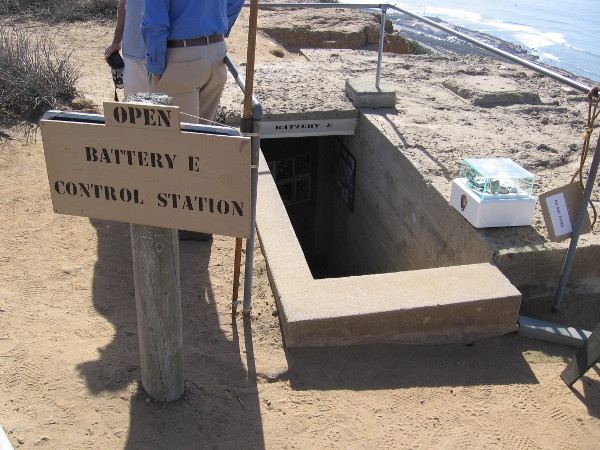 The Battery E Control Station can be entered on many weekend days. Tours are provided by volunteer docents who are members of the San Diego Military History Association.