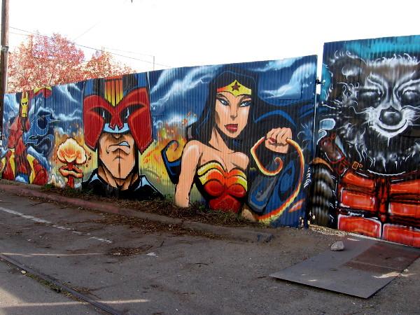 Cool Comic Book And Superhero Street Art Cool San Diego