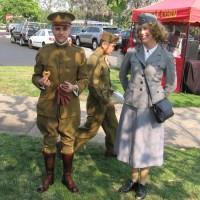 Historical reenactment on Veterans Day in Balboa Park.