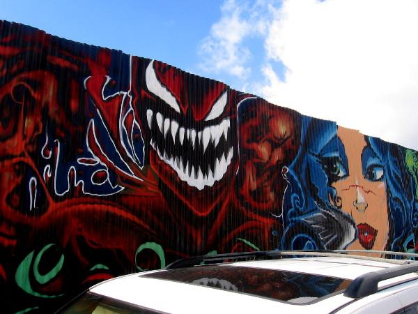 Carnage street art by Fizix.