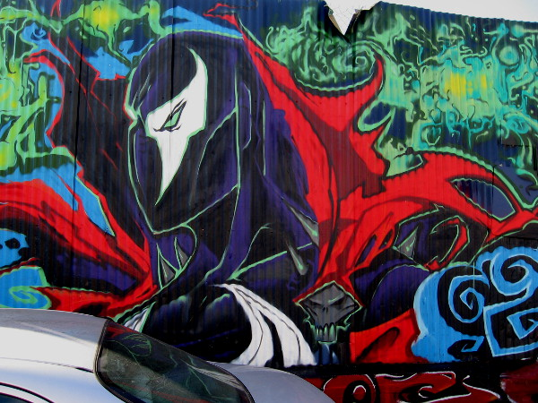 Spawn street art by Fizix.